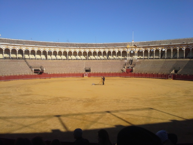 Bull ring at the Plaza de Toros in Seville Spain