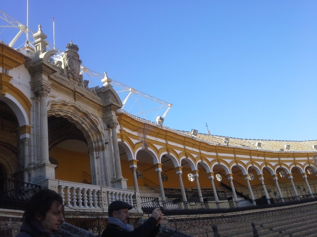 Royal box at the Plaza de Toros Seville Spain