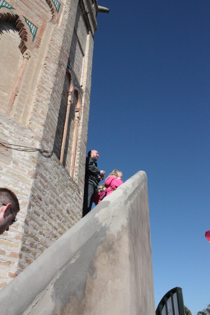 Looking out at the city on the viewing platform of the Torre del Oro